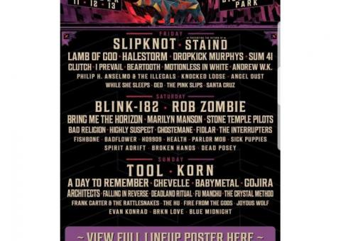 Aftershock music festival tickets